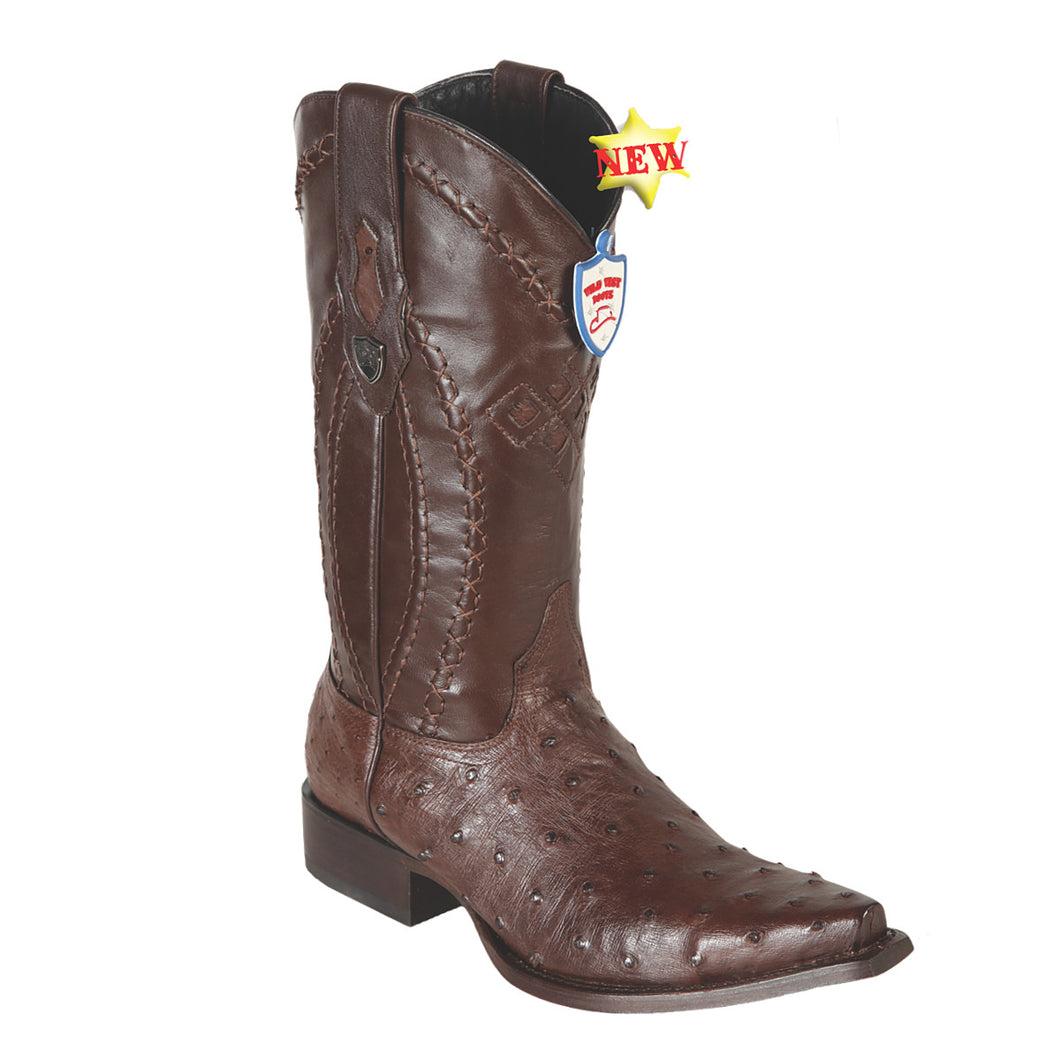Wild West Boots H94 Snip Toe Ostrich - Brown