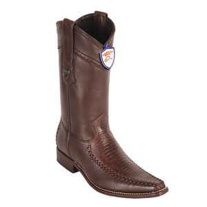 Wild West Boots Square Toe Lizard/Deer