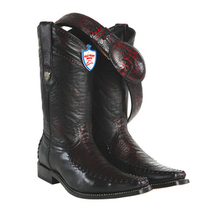 Wild West Boots Square Toe Ostrich Leg/Deer