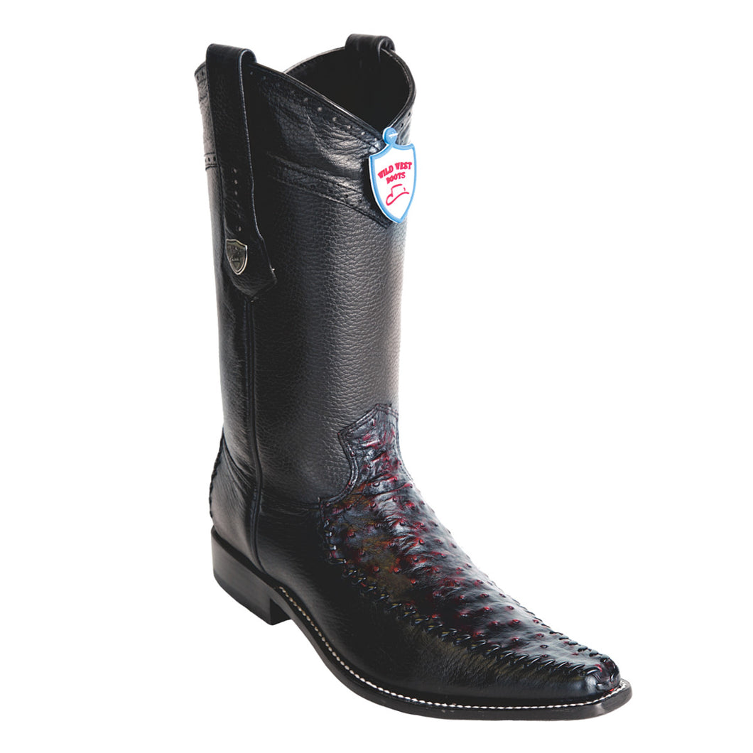 Wild West Boots Square Toe Ostrich/Deer
