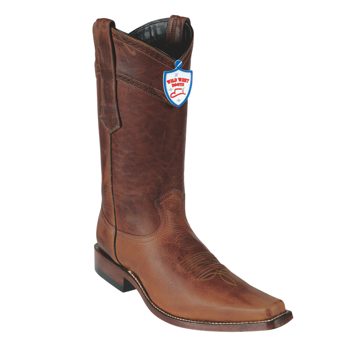 Wild West Boots Square Toe Rage Medallion