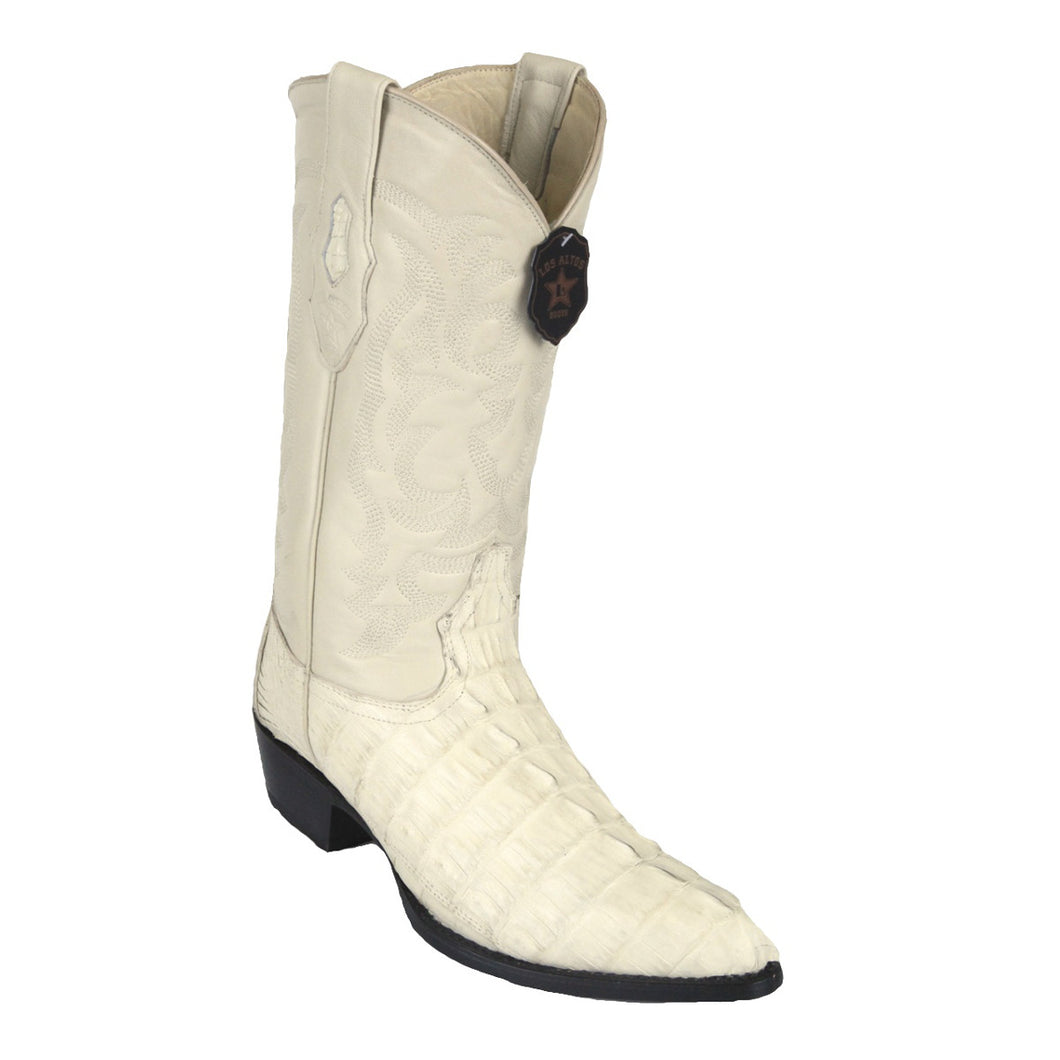 Los Altos Boots H99 J-Toe Caiman Tail - Winterwhite