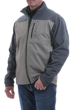 Load image into Gallery viewer, MENS CINCH COLOR BLOCKED PRINTED BONDED JACKET - STONE/BLUE