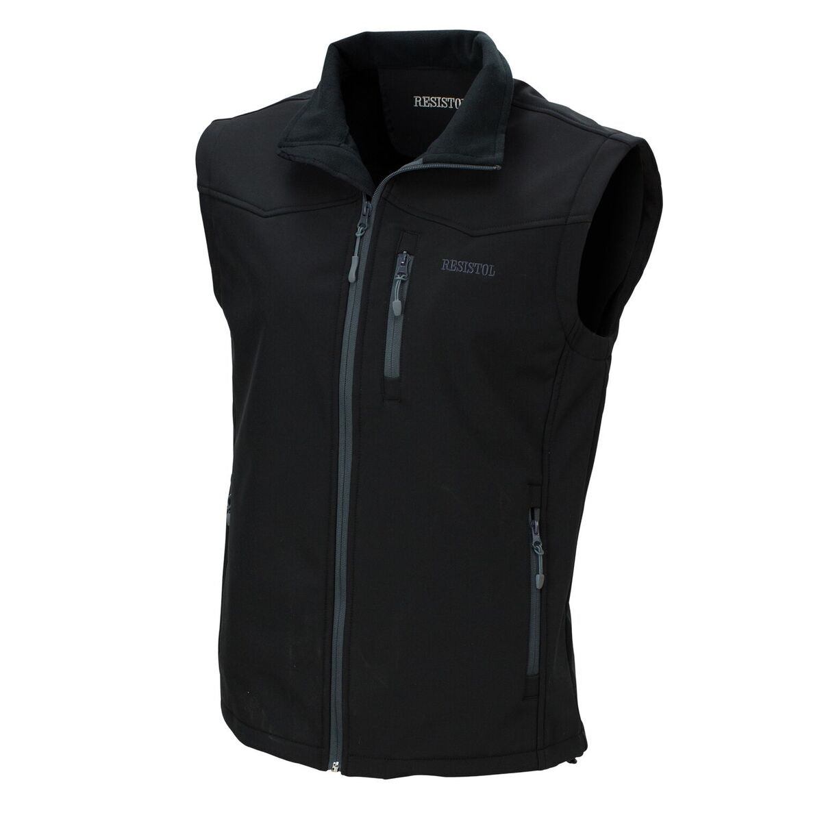Men's Resistol Soft Shell Black Solid Vest