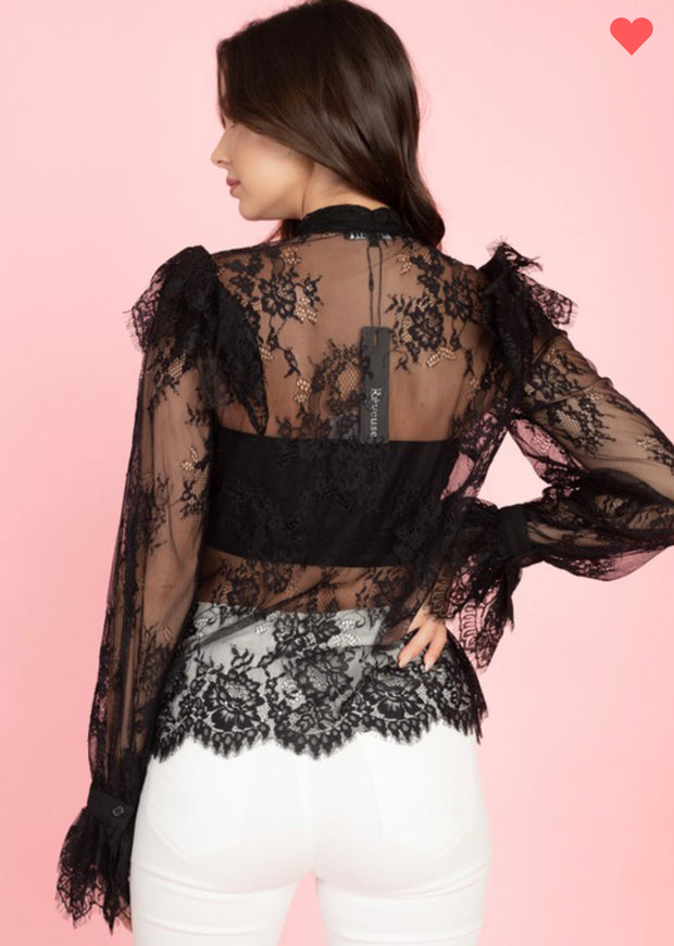 Amerie Romantic Longsleeve Lace top