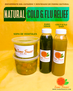 Natural Cold & Flu Relief Kit - Zumo Fresco