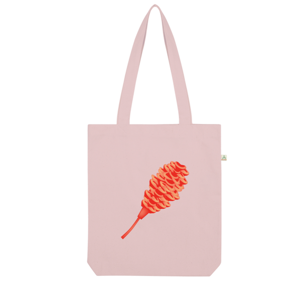 Maraca Ginger Print Tote on Canvas Organic Tote Bag I Puffee