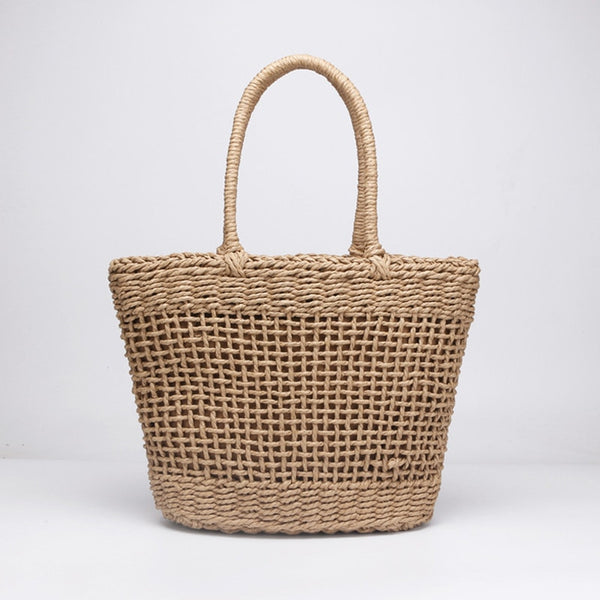 Straw Beach Tote I Puffee