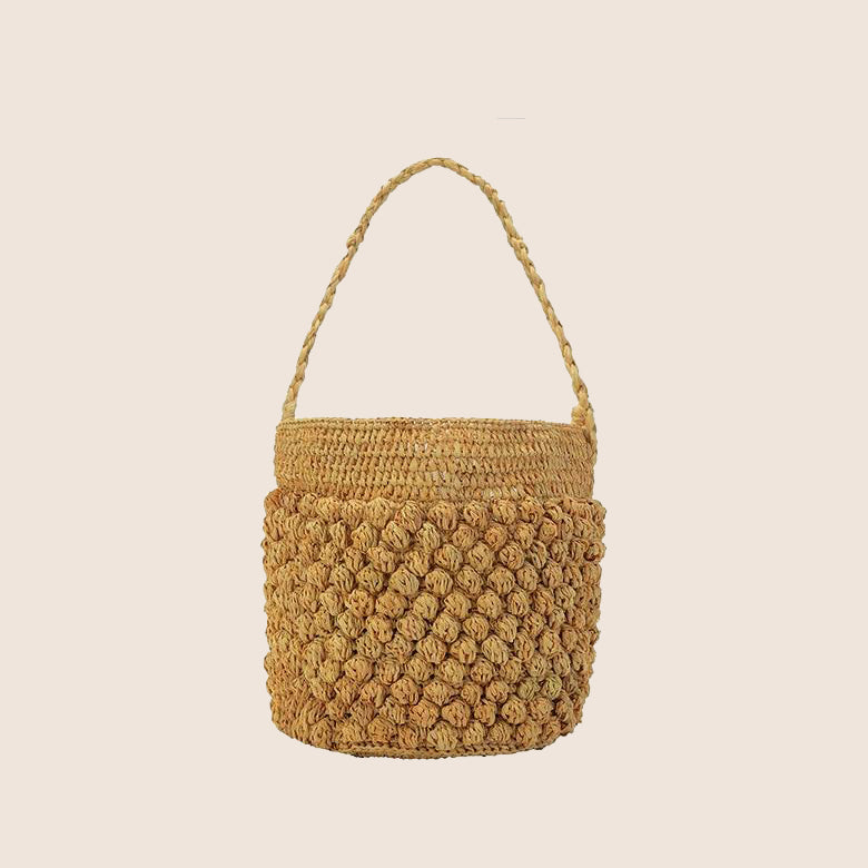 Straw Handbag I Puffee