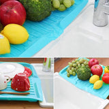 Load image into Gallery viewer, Plastic Dish Drainer Tray Large Sink Drying Rack I Puffee