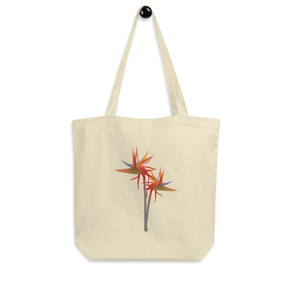 Strelitzia Eco Tote Bag in Beige I Puffee