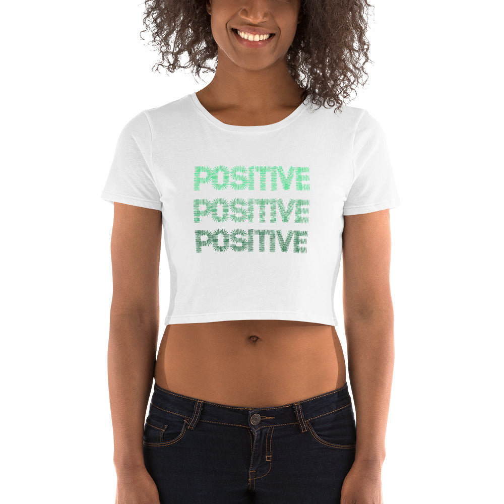 Positive Women's Crop Tee - Puffee