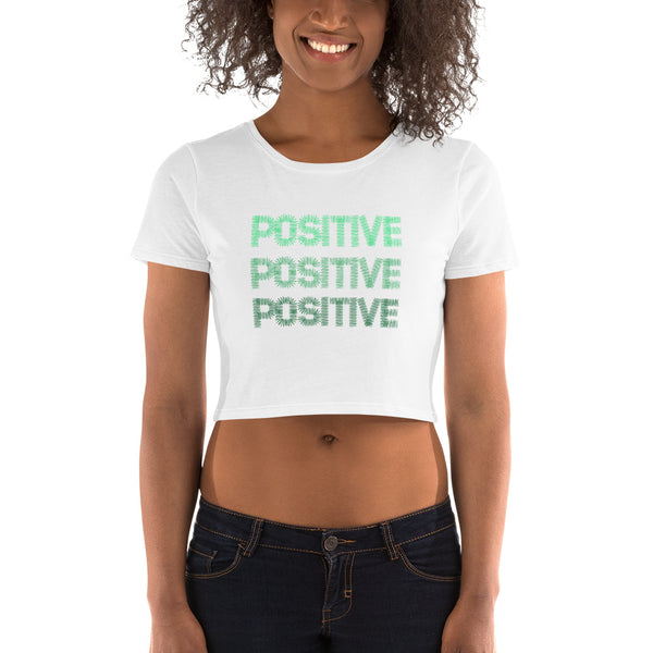 Positive Women's Crop Tee I Puffee