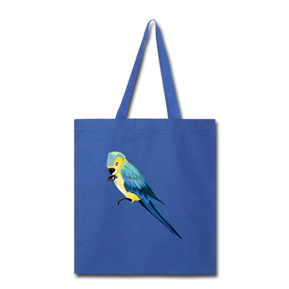 Parrot Tote Bag in Royal Blue - Puffee