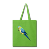 Load image into Gallery viewer, Parrot Tote Bag in Neon Green I Puffee