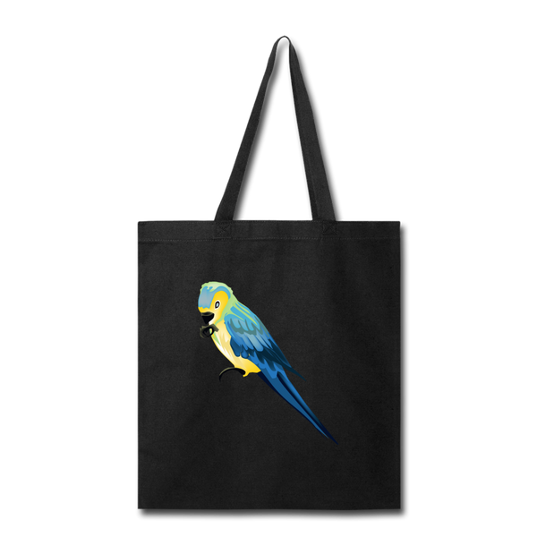 Parrot Tote Bag in Black I Puffee