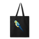 Load image into Gallery viewer, Parrot Tote Bag in Black I Puffee