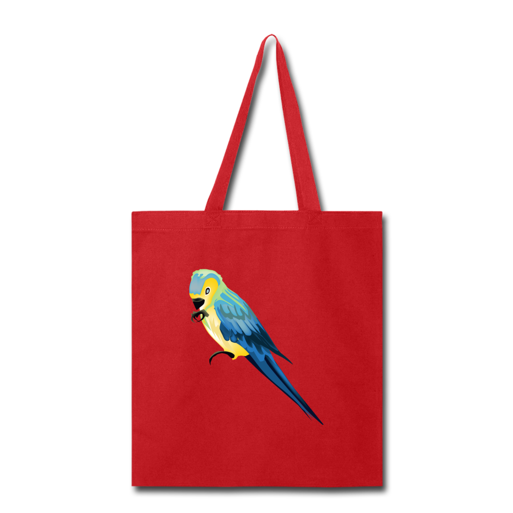 Parrot Tote Bag in Red I Puffee