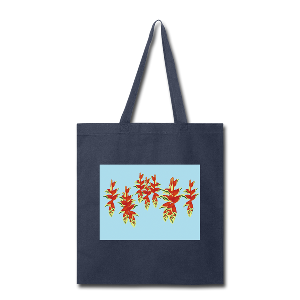 Tropical Flowers Cotton Canvas Tote I Puffee