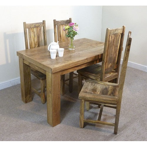 Mantis 135cm Dining Table & 4 Chairs