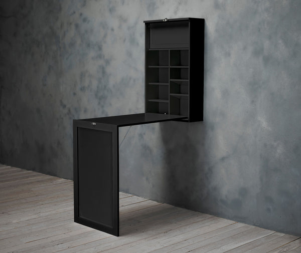 Arlo Black Foldaway Wall Desk