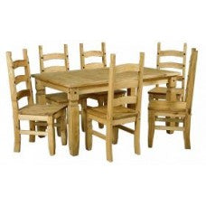 "Corona 6'0"" Dining Table & 6 Chairs"