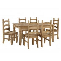 Corona Large Extending Dining Table & 6 Chairs