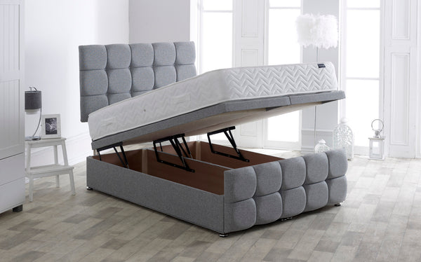 DOR Modern End Lift Storage Bedstead - Grey