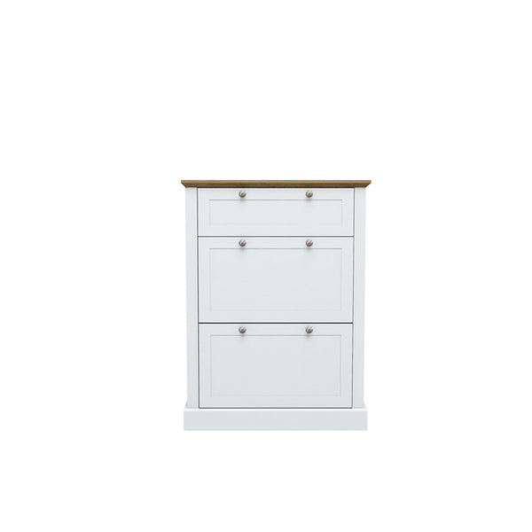 Devon Shoe Cabinet - White