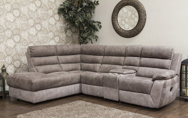 Urban Left Hand Manual Reclining Corner Chaise Sofa Corner Sofas- KC Sofas