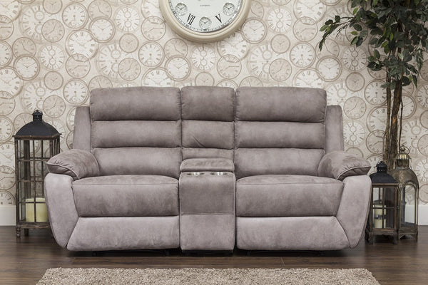 Urban Manual Reclining 2 Seater Sofa With Console