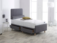 NV Modern 4 Drawer Bedstead - Grey