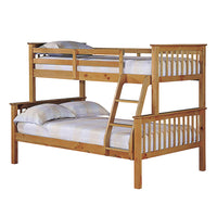 Otto Trio Bunk Bed - Antique Wax Pine