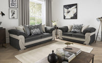 Rihanna 3 Seater & 2 Seater Sofa Set - Grey/Shark