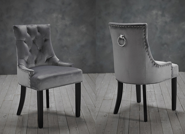 Morgan Dining Chairs (Pack of 2) - Grey