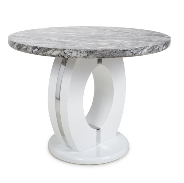 Neptune 100cm Round Grey/White Dining Table