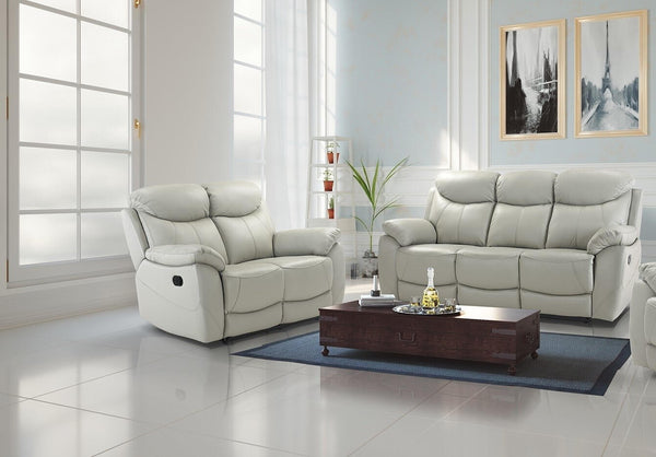 Virage 3 Seater & 2 Seater Manual Reclining Sofa Set - Putty