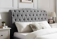 Rosa Luxury Bed - Light Grey