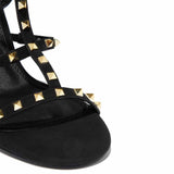 Black Studded STYLETTO