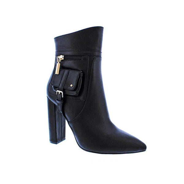 BOTINES Black pocket bootie STYLETTO