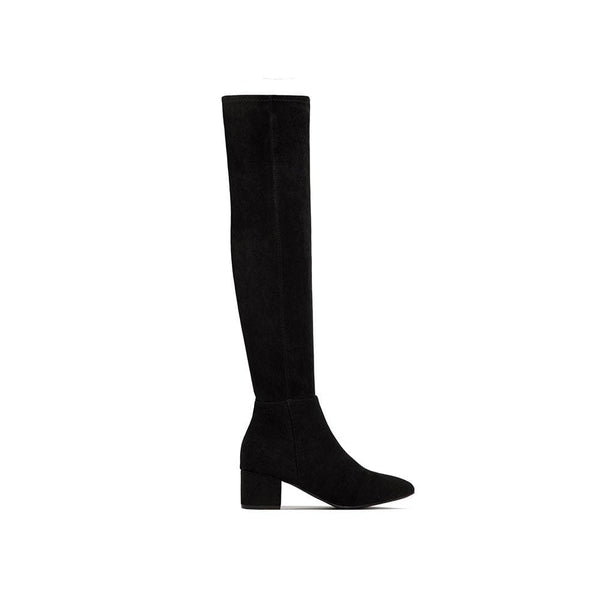 BOTINES Black Suede Boot STYLETTO