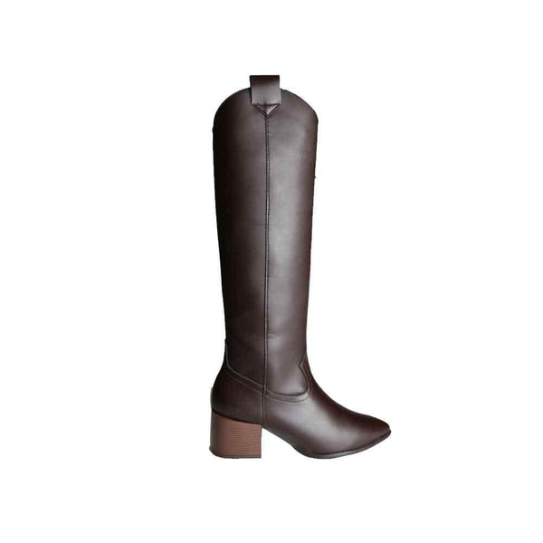 BOTINES Brown cowboy boots STYLETTO