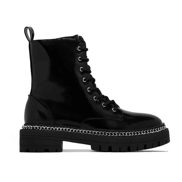 BOTINES Combat Chain Booties STYLETTO