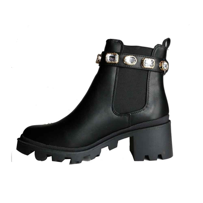 BOTINES Combat jewel Booties STYLETTO