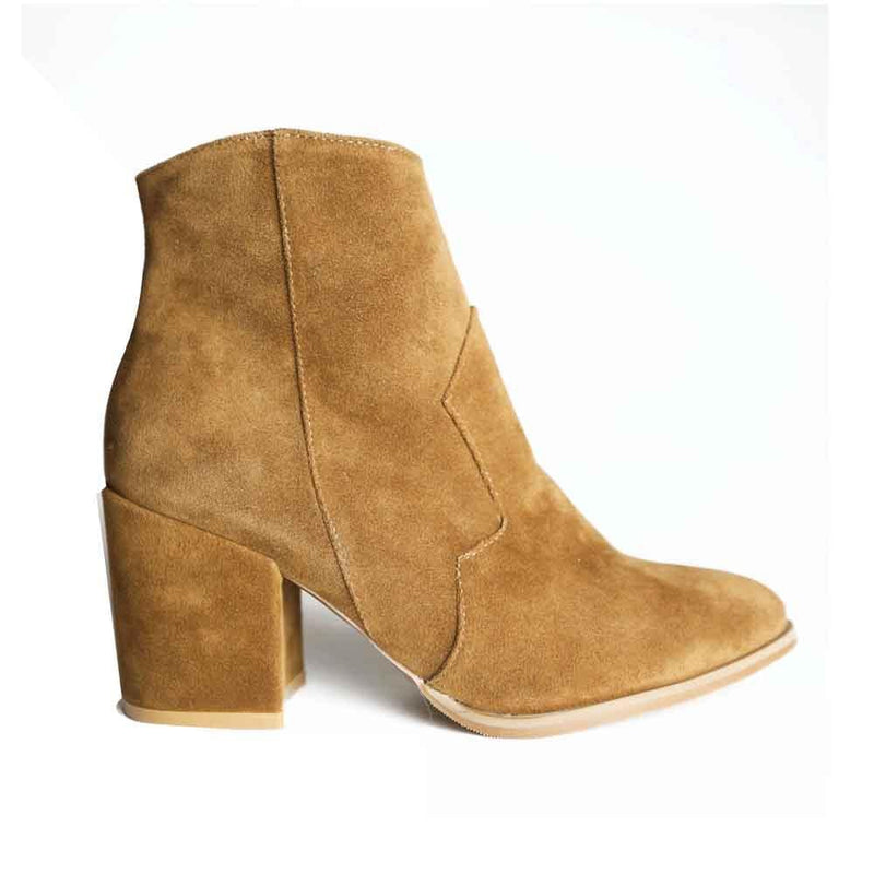 BOTINES Cowgirl tan bootie STYLETTO