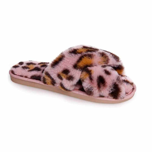BOTINES Pink leopard slippers STYLETTO