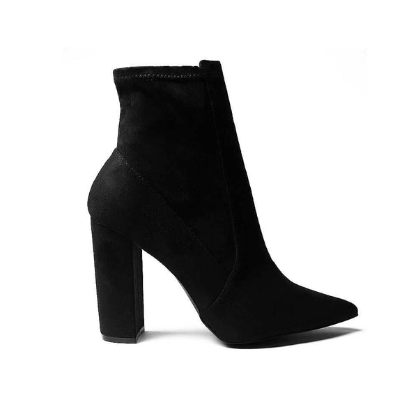 BOTINES Suede Black Booties STYLETTO