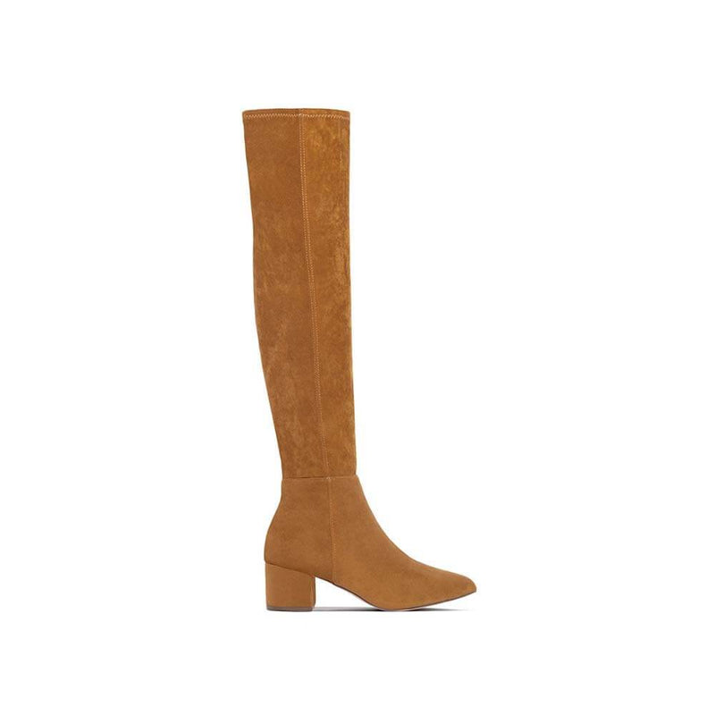 BOTINES Tan Suede Boot STYLETTO
