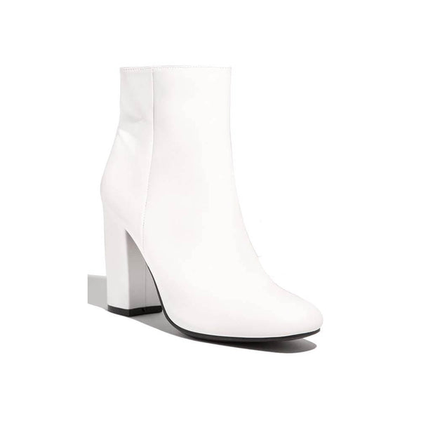 BOTINES White booties STYLETTO