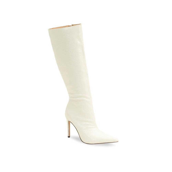 BOTINES White Croc Patent Boot STYLETTO